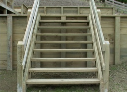 Open Timber Steps